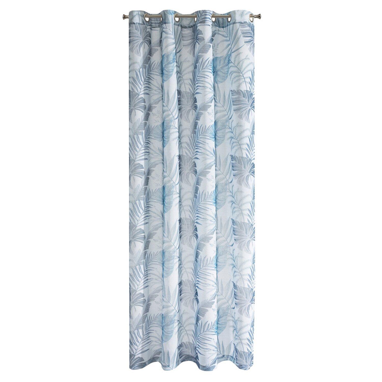 Eurofirany Zasłona Naira Biało Niebieska 140 Cm X 250 Cm