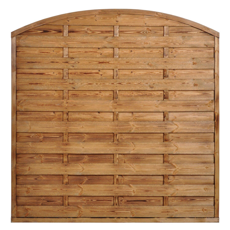 plot pełny opalany drewniany płot SOBEX