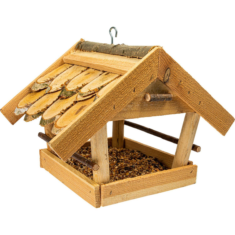 Karmnik dla ptaków kryty gontem duży 27x24x32 cm kupuj w OBI