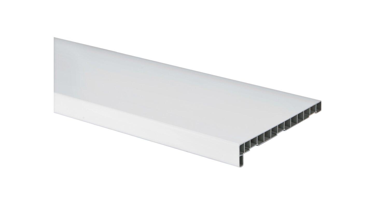 Parapet wewnętrzny PVC, kolor biały, gr. 4,2 cm, szer. 25 cm, dł. 126 cm