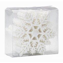 Zestaw śnieżynek 12 sztuk biały