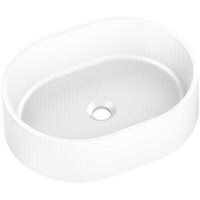 Umywalka nablatowa Olib granitowa biała