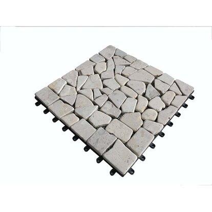 Podest tarasowy wapień mozaika beżowy 30cm x30cm x2cm