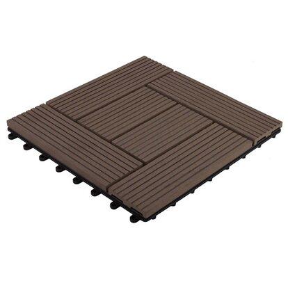 Podest tarasowy kompozytowy ryflowany ciemny brąz 30cm x 30cm x2 cm