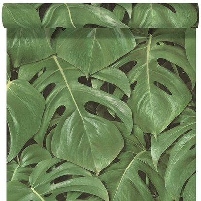 Rasch Tapeta winylowa zielone liście 53cm x10m