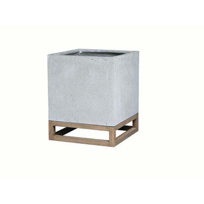 OBI Donica Cube na drewnianej ramie 29x29x39cm