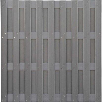 Panel ogrodzeniowy WPC jasny szary 180x180cm