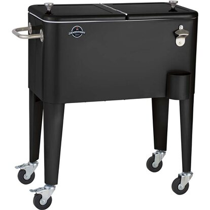 Grill Cooler metalowy na kółkach czarny matowy