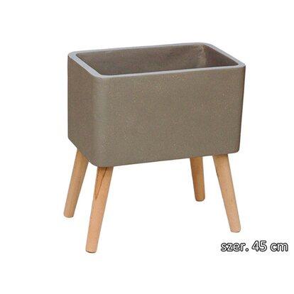 Osłonka ceramiczna Magnezja szary 45x28x25cm