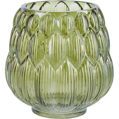 Waza szklana - świecznik
