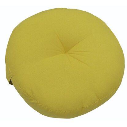 Poduszka siedzisko okrągła żółta 40x40x10cm