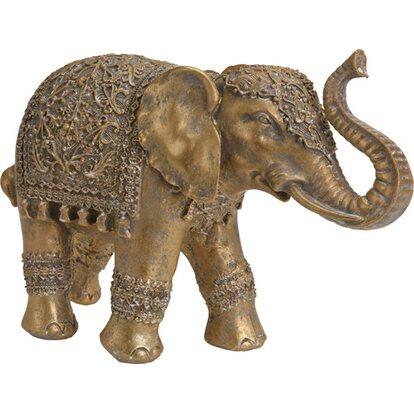 Figurka Słoń złoty średni 27x9x18cm