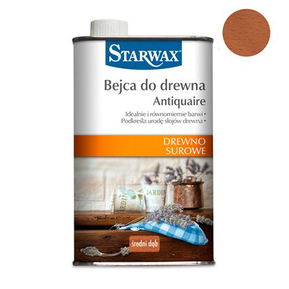Starwax Bejca do drewna Antiquaire średni dąb 500 ml