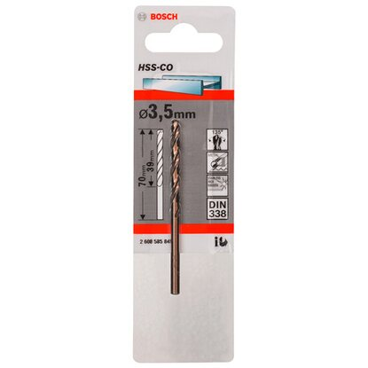 Bosch Wiertło do metalu HSS-Co 3,5 mm x 70 mm