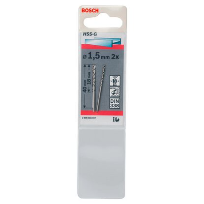 Bosch Wiertło do metalu HSS-G 1,5 mm x 40 mm