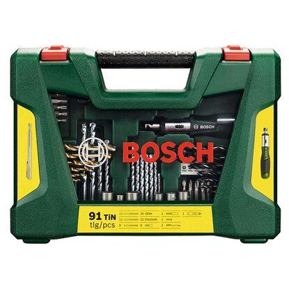 Bosch Zestaw bitów i wierteł Titanium 91-częściowy