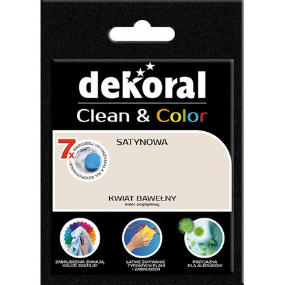 Dekoral Tester farby Clean Color kwiat bawełny