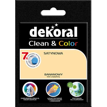 Dekoral Tester farby Clean Color bananowy