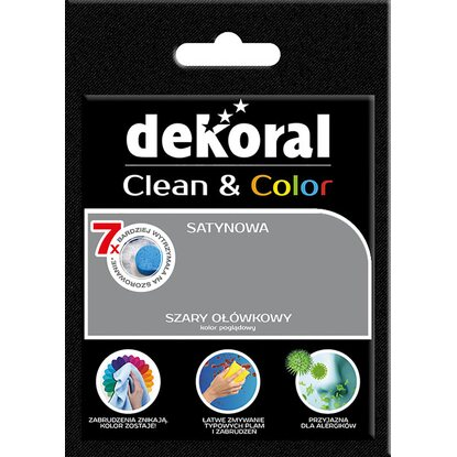Dekoral Tester farby Clean Color szary ołówkowy