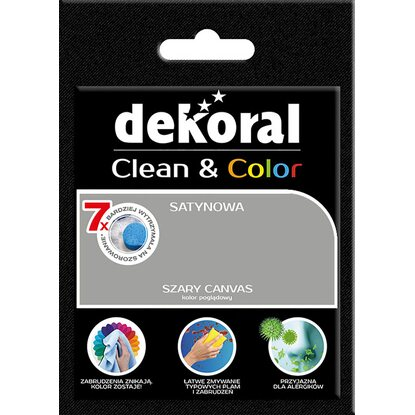 Dekoral Tester farby Clean Color szary canvas
