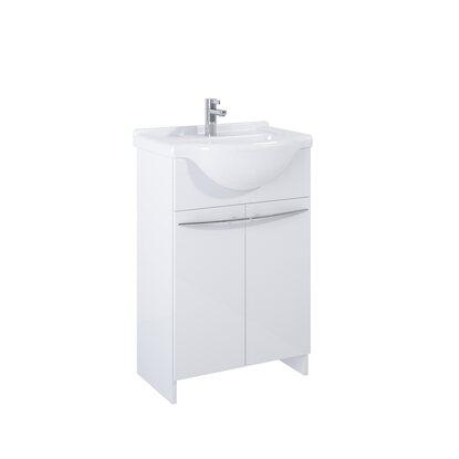 Maximus Zestaw Kimba szafka z umywalką biała 75