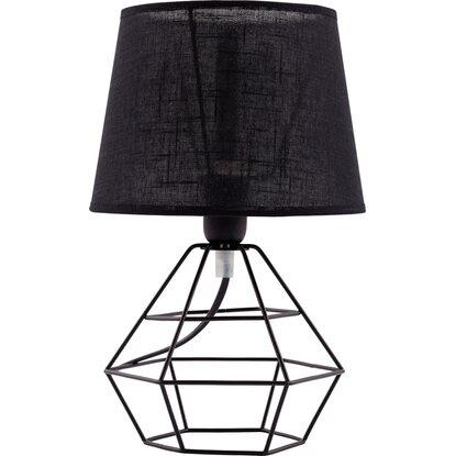 TK Lighting Lampka stołowa DIAMOND czarna 1x60W E27