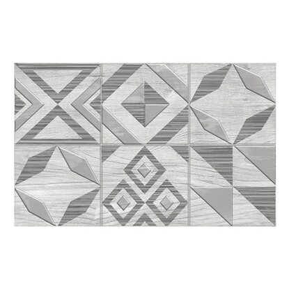 Ceramika Color Dekor Equador patchwork white 25 cm x 40 cm