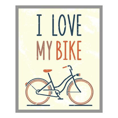 Obraz Love Bike 53 cm x 43 cm