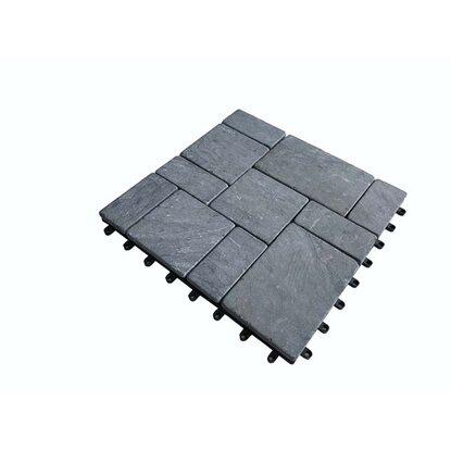 Cyganek Podest tarasowy wapień prostokąty czarny 30 cm x 30 cm x 2 cm