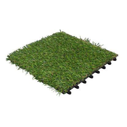 Dlh Podest tarasowy sztuczna trawa 30 cm x 30 cm x 2,2 cm