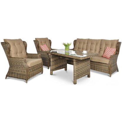 Komplet Trivento, sofa 3-os., 2 fotele, stół