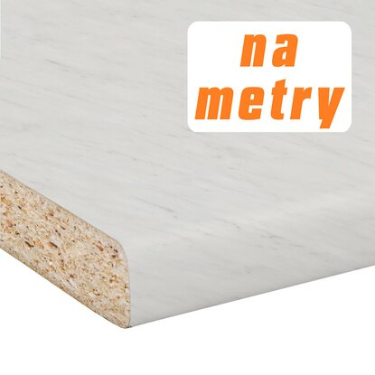 Blat roboczy 2,8 cm x 60 cm x 305 cm marmur Carrara, matowy