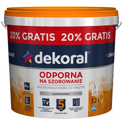 Dekoral Akrylit W 10 l + 20 % gratis