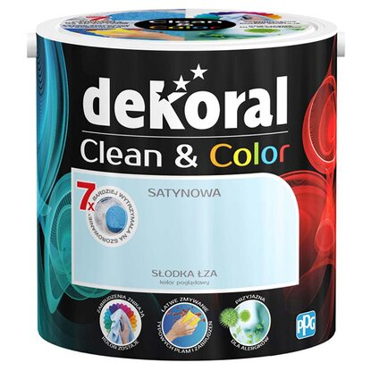 Dekoral Emulsja Clean & Color słodka łza 2,5 l