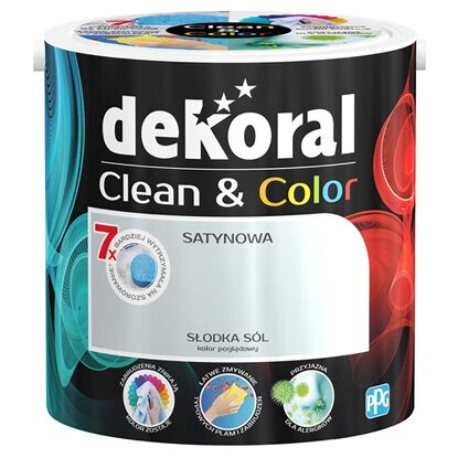 Dekoral Emulsja Clean & Color słodka sól 2,5 l