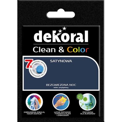 Dekoral Tester farby Clean Color bezgwiezdna noc