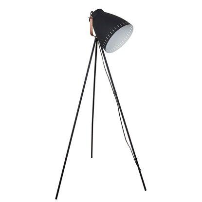Italux Lampa podłogowa FRANKLIN czarna 1x60W E27