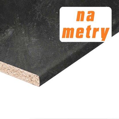 Blat roboczy 2,8 cm x 60 cm x 410 cm beton czarny, matowy