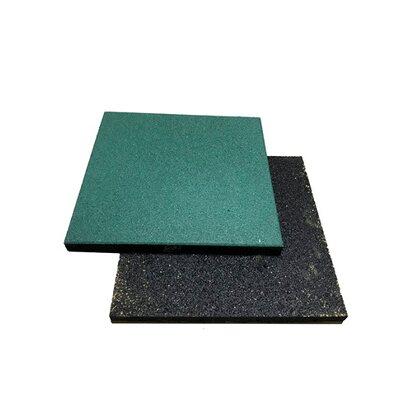 4IQ Nawierzchnia gumowa na plac zabaw SBR zielona 50 cm x 50 cm x 2 cm