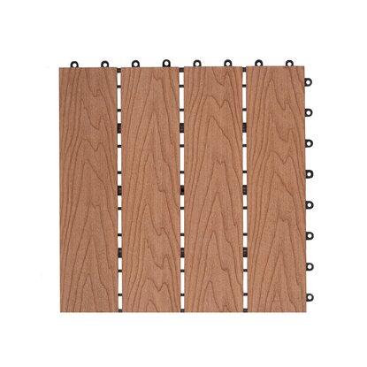 Dlh Podest tarasowy kompozytowy struktura drewna teak 30 cm x 30 cm x 2,1 cm