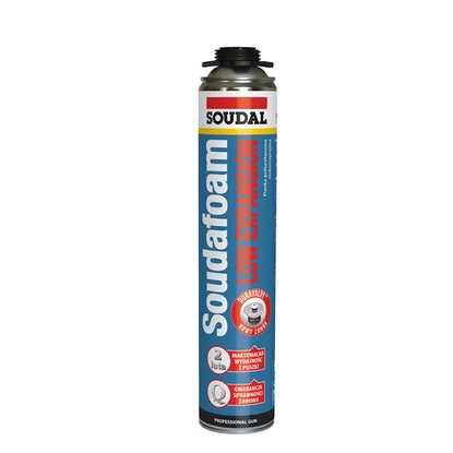 Soudal Pianka montażowa pistoletowa Soudafoam Low Expansion 750 ml