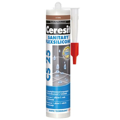 Ceresit Silikon sanitarny CS 25 55 terra 280 ml