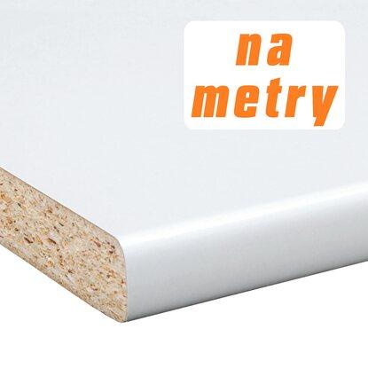 Blat roboczy 2,8 cm x 60 cm x 305 cm biały, połysk