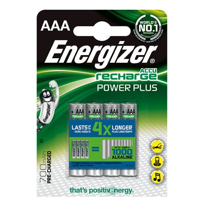 Energizer Akumulatorki R03/AAA Power Plus 700 mAh 4 sztuki