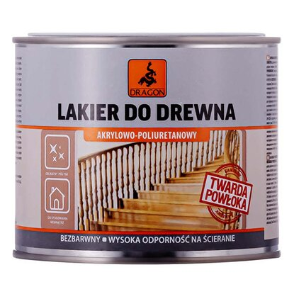 Dragon Lakier akrylowo-poliuretanowy do drewna 500 ml metal