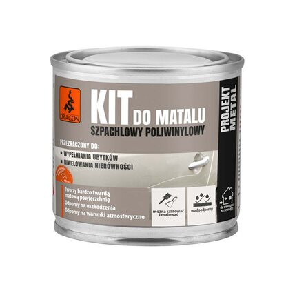 Dragon Kit szpachlowy do metalu 250 g