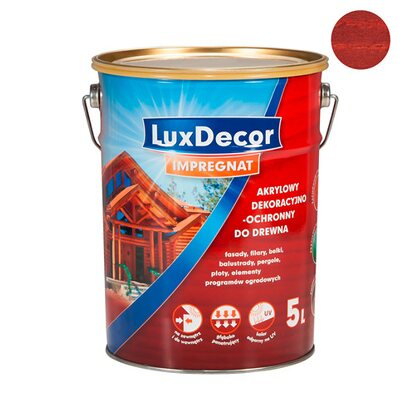 LuxDecor Impregnat do drewna mahoń 5 l