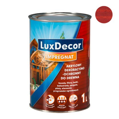 LuxDecor Impregnat do drewna mahoń 1 l