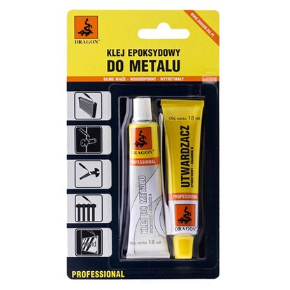 Dragon Klej epoksydowy do metalu 2 x 18 ml