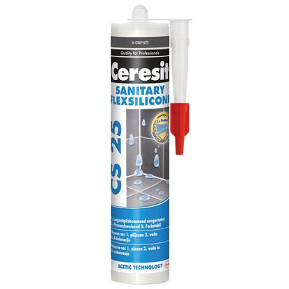 Ceresit Silikon sanitarny CS 25 16 grafit 280 ml